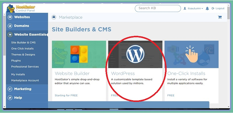 install wordpress on a new blog 3