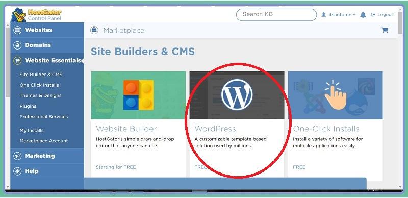 install wordpress on a new blog 3